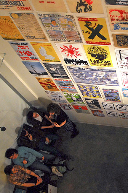 The exhibit displays numerous posters that have been instrumental in inciting social and cultural revolutions through the years. (credit: Myyk Seok   Photo Staff)