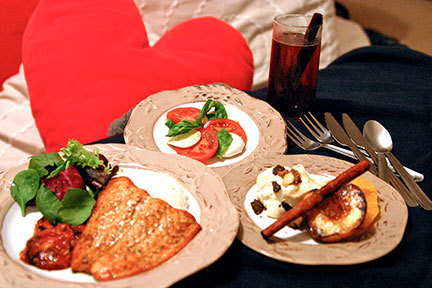 Create a tasty homemade meal for you and your date. (credit: Hannah Rosen | Photo Staff)