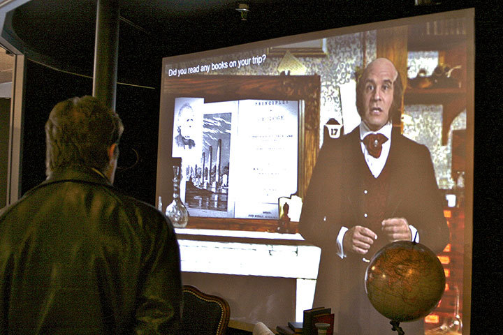 Visitors at the Carnegie Science Center can now ask Darwin questions via a new exhibit.