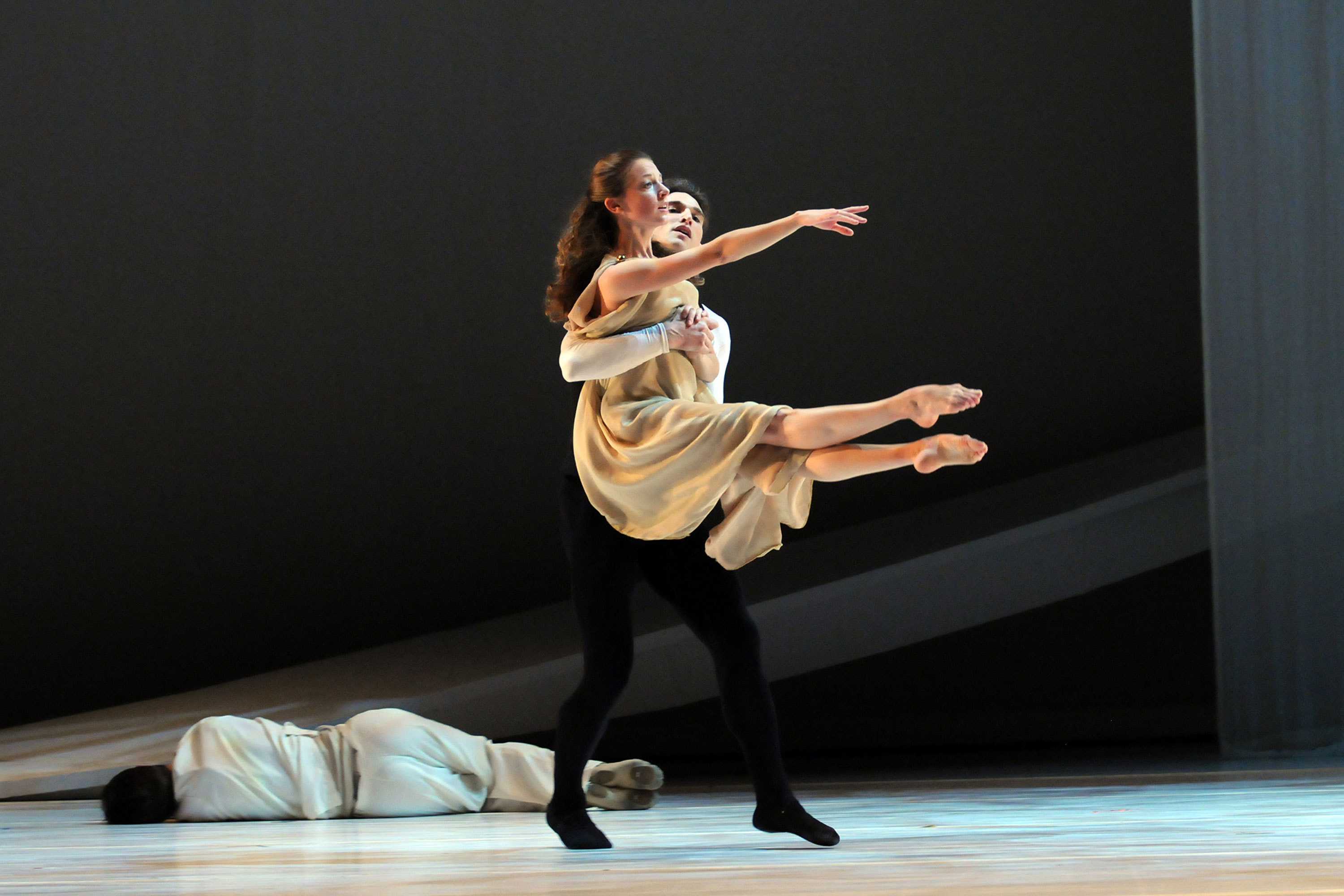 Juliet and Friar Lawrence dance together when Juliet is upset because of Romeo's departure.   (credit: Courtesy of Mandy Wilson)