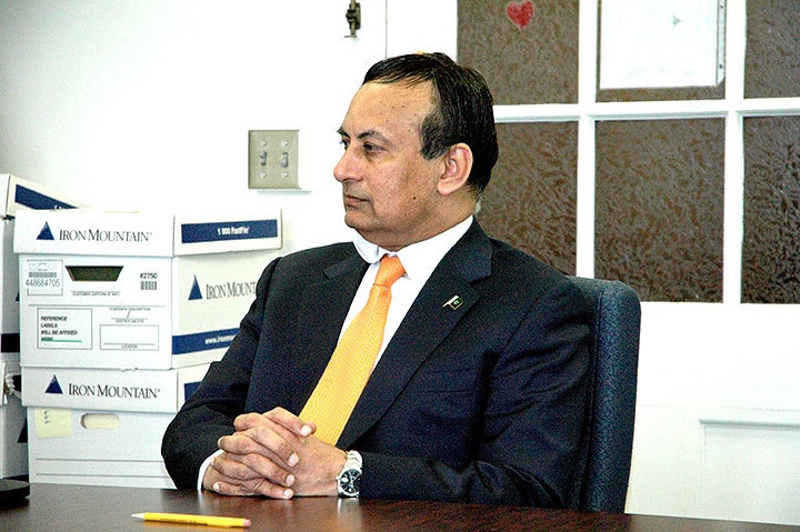 Pakistani Ambassador, Husain Haqqani, gave students an interview. (credit: Cassie Wallace/Photo Staff)