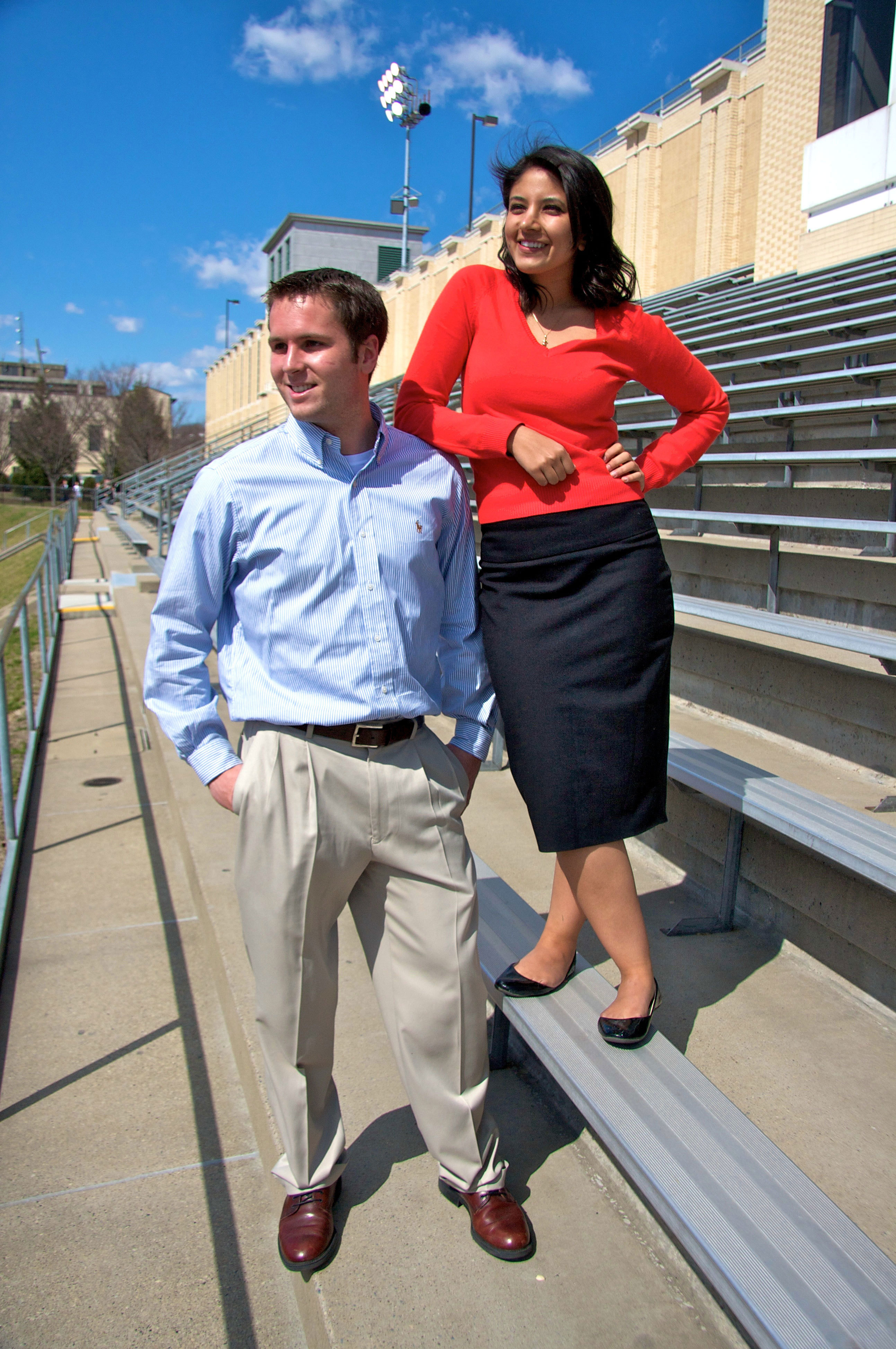 Sarah Sheikh and Jonathan Hall are running for student body president and vice president. (credit: Joshua Debner/Photo Staff)