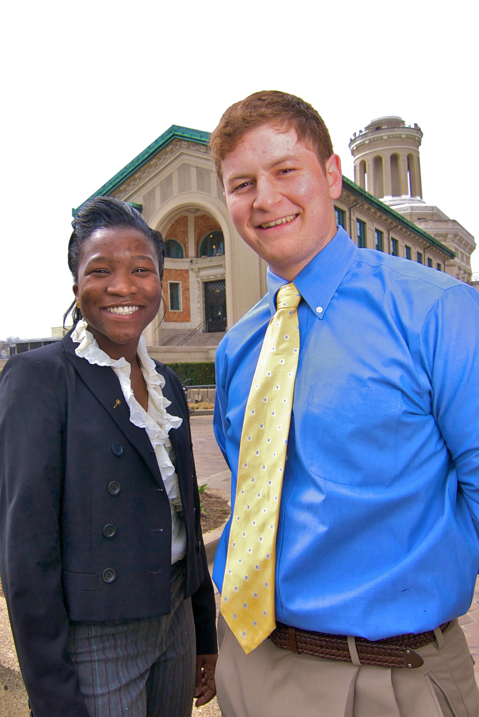 Rotimi Abimbola and Adam Klein are running for student body president and vice president. (credit: Joshua Debner/Photo Staff)
