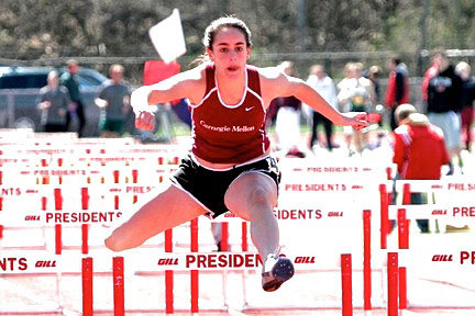First-year Luci Laffite finished second in the 100-meter hurdles at W&J. (credit: Courtesy of Martin Santek Photography)