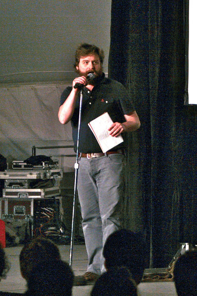 Galifianakis entertained the audience with hilarious stand-up comedy last Thursday. (credit: Celia Ludwinski | Assistant Photo Editor)