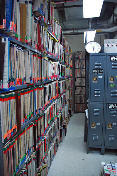 The library of WRCT holds over 70,000 vinyl records and cds. It stands as a testament to the radio station's commitment to different music. (credit: Jesse Kummer/Photo Staff)