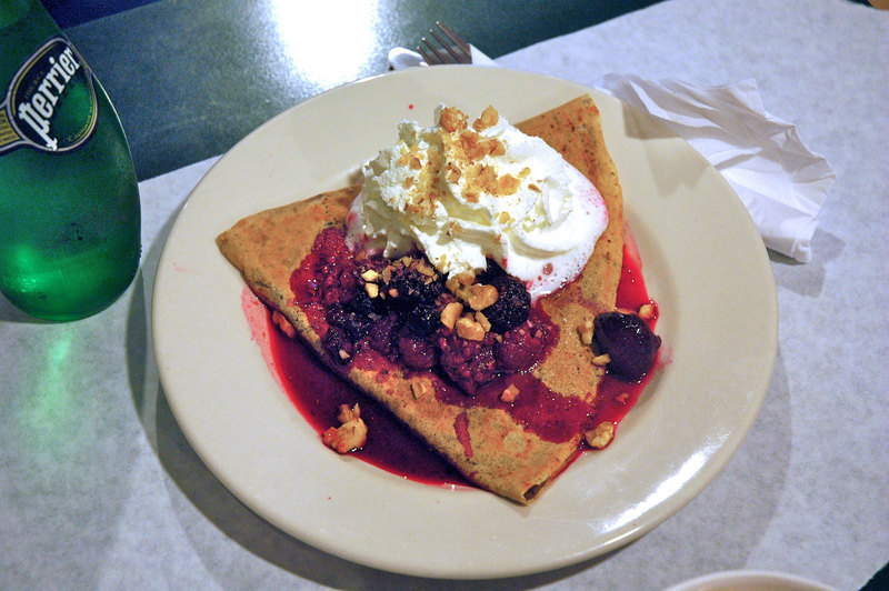 The ever-popular Nutella crêpe is ready to eat. (credit: Celia Ludwinksi | Assistant Photo Editor)
