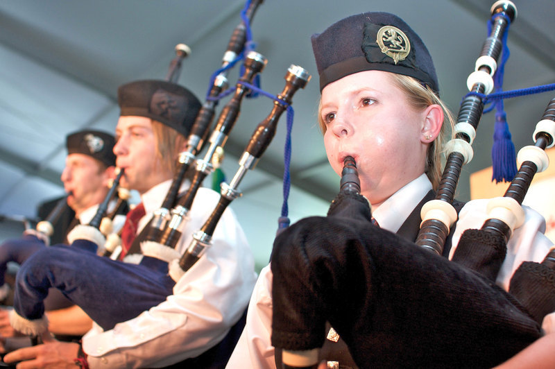 The pipe band plays at this year's Convocation.  (credit: Joshua Debner | Photo Staff)