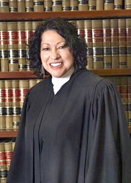 Supreme Court Justice Sonia Sotomayor is pictured above. (credit: Courtesy of Wikimedia Commons)