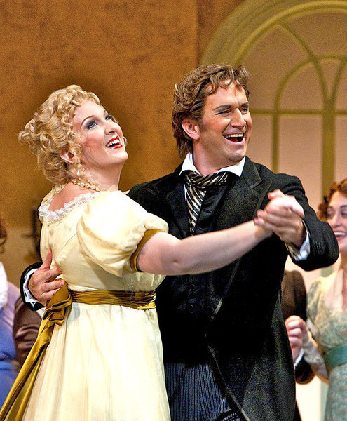 Onegin dances with his friend Lensky's lover Olga to make Lensky jealous. (credit: Courtesy of David Bachman)