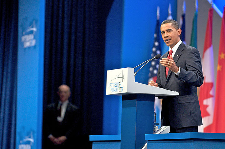 President Barack Obama spoke at the G20 Summit conference held at the David L. Lawrence Conference Center in downtown Pittsburgh last weekend. He mentioned that he was jealous he didn't get to eat at Pamela's. (credit: J.W. Ramp/Publisher)