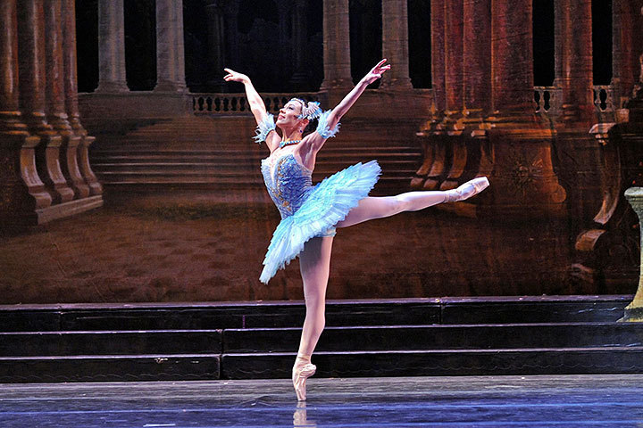 Christine Schwaner dances gracefully as the Bluebird. (credit: Courtesy of Rich Sofranko)