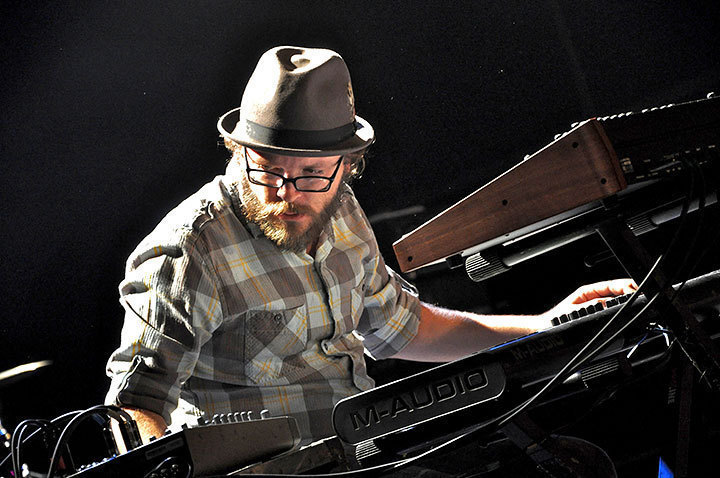 Joe Lesser on keys for the Silversun Pickups at Ches-a-rena last Saturday. (credit: J.W.  Ramp | Publisher)