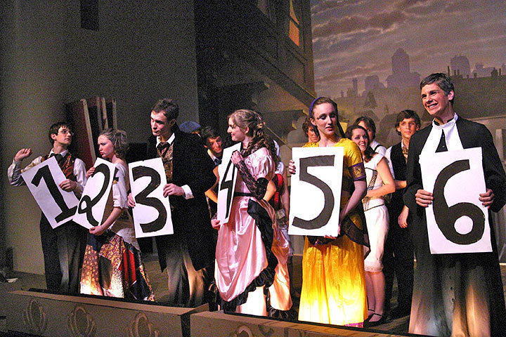 Audiences voted to determine which performer was the murderer. (credit: Hannah Rosen | Photo Staff)