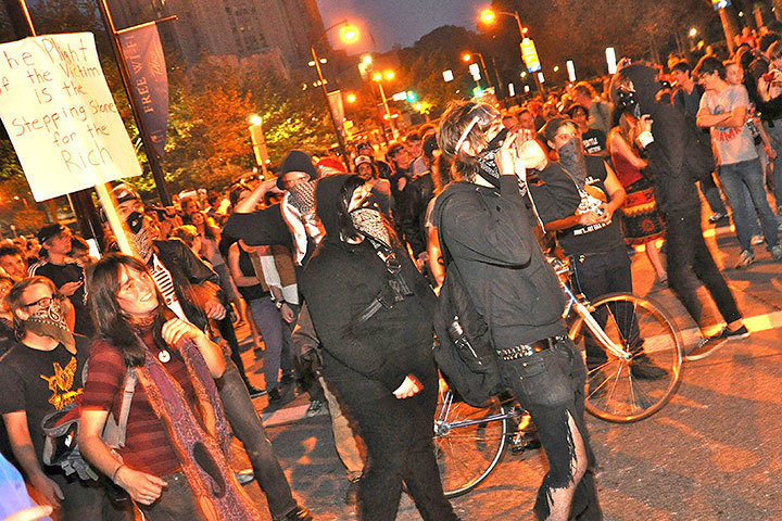 During the G-20 summit, rioters and protesters gathered in the streets of Pittsburgh. Police were scattered to maintain safety and control. (credit: File Photo)