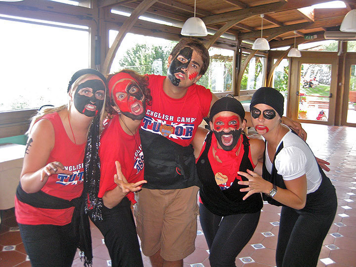 """Houle and fellow tutors dressed up for a tutor performance of Michael Jackson's """"Thriller"""" in Massa Lubrense.  (credit: Courtesy of Robert Houle)"""