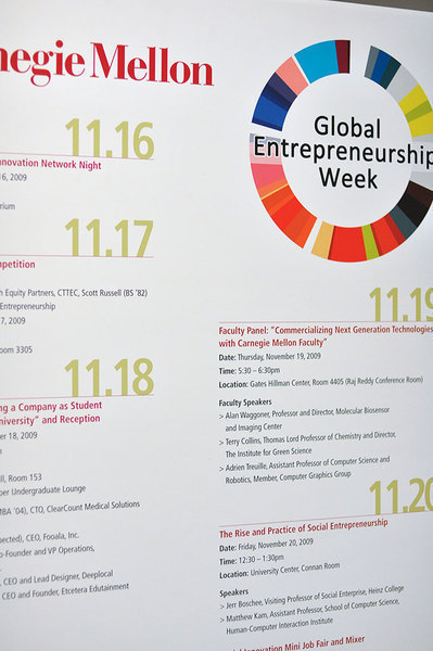 Global Entrepreneurship Week addressed challenges that come with starting a business as a student, including customer relations and time management. (credit: Kristen Severson/Photo Editor)