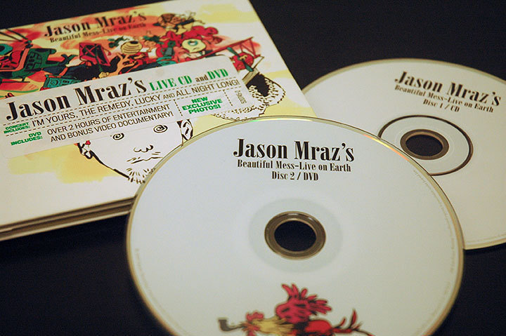 Jason Mraz's CD, *Beautiful Mess*, released recently to rave reviews. (credit: Kristen Severson)