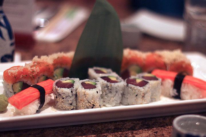Spicy tuna roll at Sakura restaurant.  (credit: Allison Piper/Photo Staff)