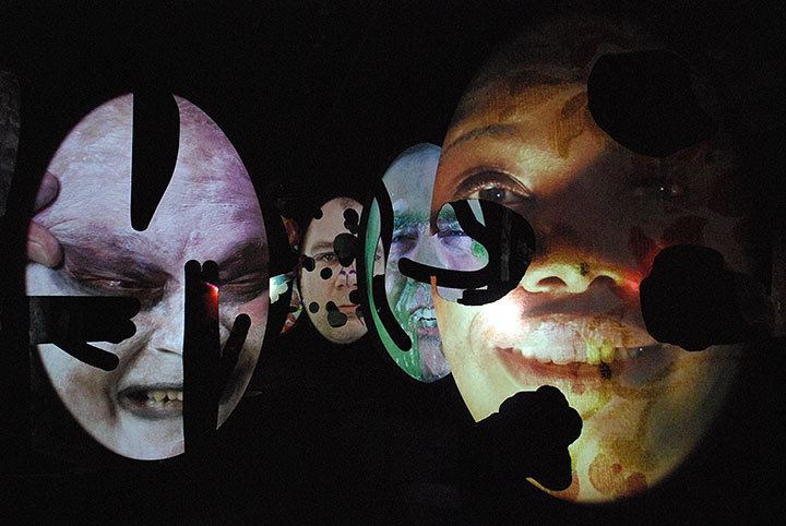 Artists created artwork based on their interpretations of what a human portrait should look like. (credit: Jessica Sochol/Photo Staff)