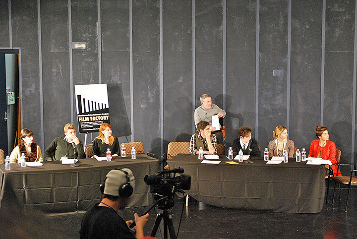 "Ten semi-finalists of Steeltown Film Factory's ""Scripted Readings"" competition were chosen to have their scripts performed in front of a live audience. 