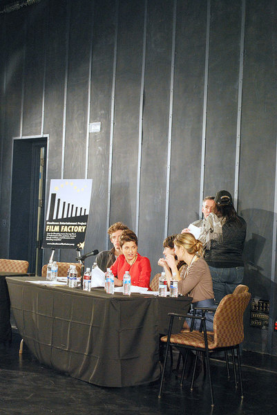 "As a response to the lack of outlets available for local talent, Kurlander and fellow panelists Asher Garfinkel, president of Readers Unlimited; Bernie Goldmann, producer of 300; Laura Harkcom, writer and producer of The Lost Room; and Minnette Seate, senior producer of WQED Multimedia came together with Steeltown Entertainment's Film Factory to host a contest called ""Scripted Readings: Does the Story Work"". (credit: Courtney Wittekind/News Editor )"