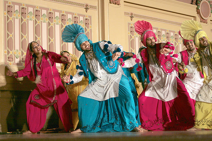 Performers show off their skills with this traditional bhangra dance style. (credit: Celia Ludwinski)