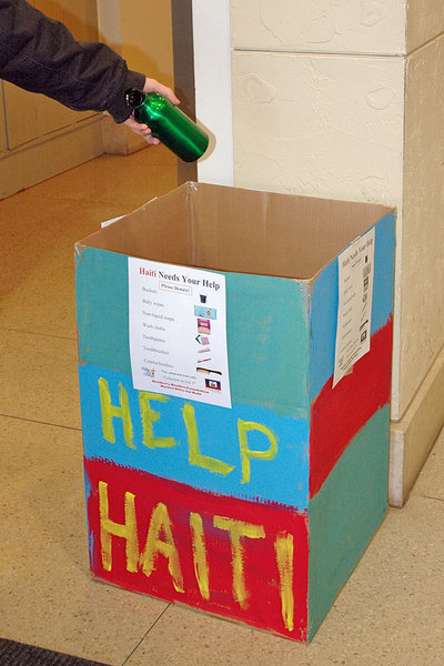 Student organizations collaborated to create the Helping Haiti campaign. (credit: Jesse Kummer/Photo Staff)