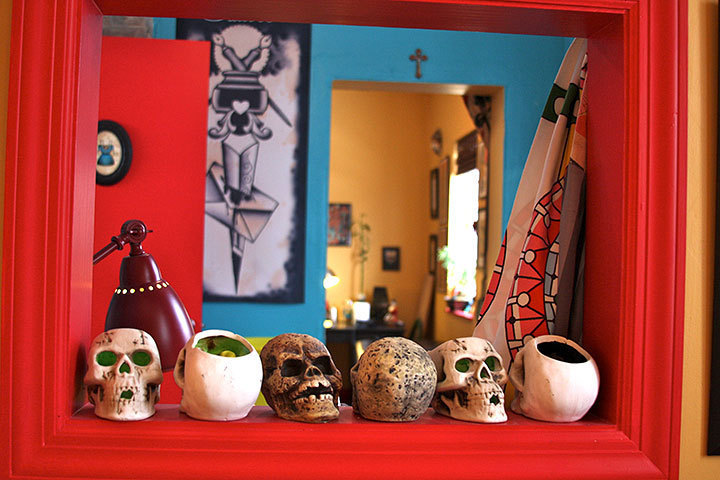 Located on Craig Street, Black Cat Tattoos has a creative and vibrant decor that reflects the artistic expression of the owner.  (credit: Allison Piper | Photo Staff)