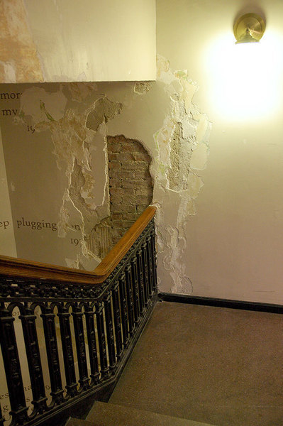 In Margaret Morrison, repairs to water damaged stairwells were delayed due to plaster that was contaminated with asbestos.  (credit: Celia Ludwinski/Photo Editor)