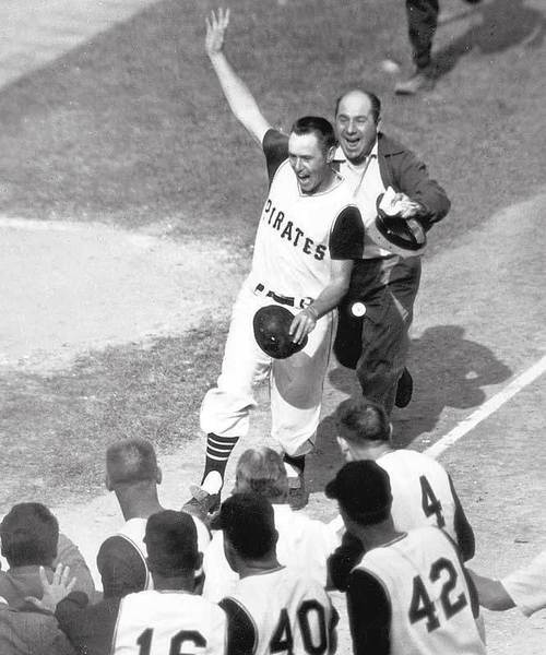 Bill Mazeroski after hitting a home run to win the 1960 World Series. (credit: http://www.fanpop.com/spots/pittsburgh-pirates/images/8859387/title/bill-mazeroskis-w)
