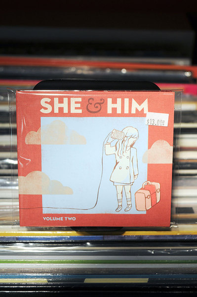 She and Him's sophomore album *Volume Two* was released on March 17.  (credit: Tommy Hofman | Photo Staff)