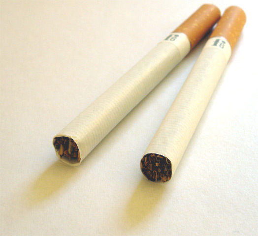 The addictive element of cigarettes is nicotine, which increases the body's output of chemicals, like dopamine, that cause relaxation. (credit: Courtesy of Wikimedia Commons)