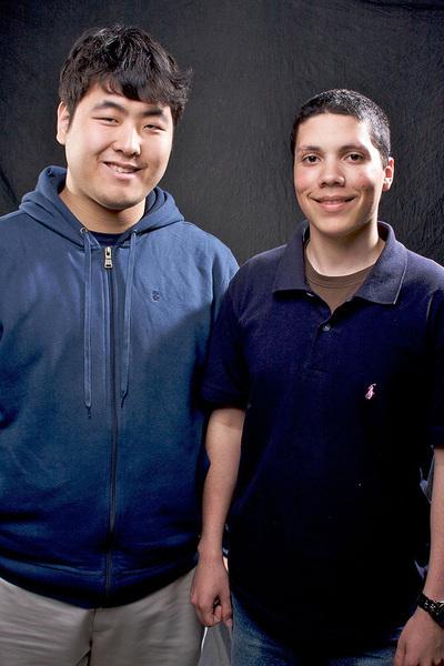 Michael Surh and Micah Rosa (credit: Joshua Debner/Photo Staff)