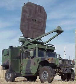 Active-Denial Systems can be attached to military vehicles, like the Humvee. This technology will be used primarily for crowd control. (credit: Courtesy of Wikimedia Commons)