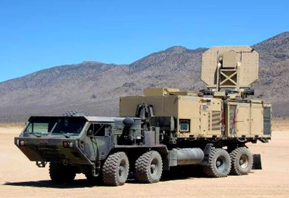 "This Active-Denial System is fully functional and mobile. Tests have already been performed and show that subjects cannot usually last more than three seconds in the so-called ""pain beam."" (credit: Courtesy of Wikimedia Commons)"