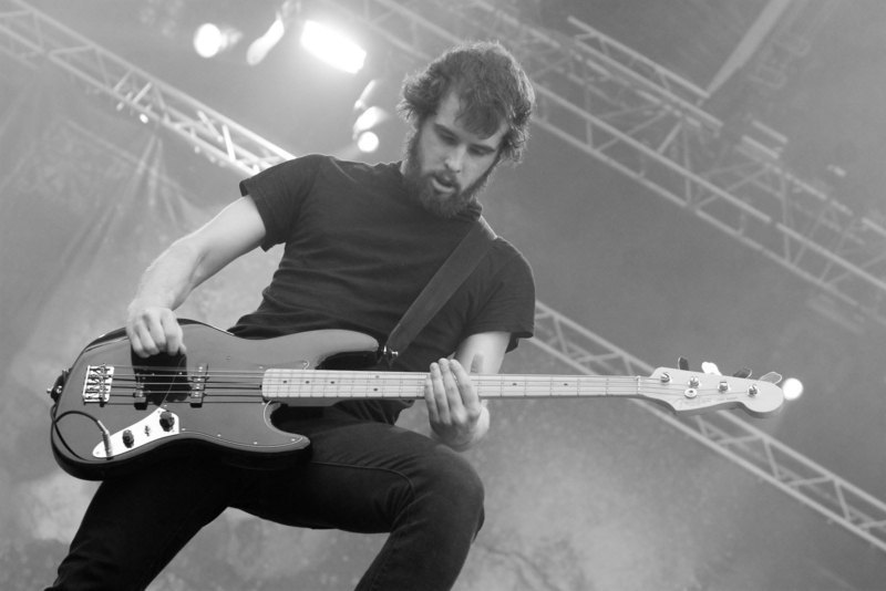 Josh Gilbert of As I Lay Dying plays the With Full Force festival in 2007 (credit: Courtesy of Wikimedia Commons)