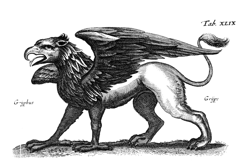 In mythology, the griffin has characteristics of a lion and an eagle. This idea applies to scientific chimeras as well, which have genetic traits of two different organisms. (credit: Courtesy of Wikimedia Commons)