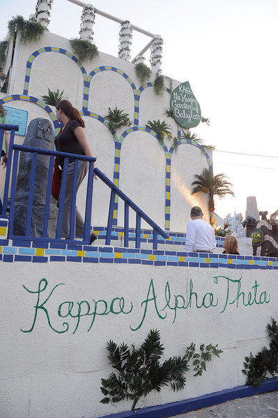 Kappa Alpha Theta's booth win nicely complemented their success at Greek Sing. (credit: Kristen Severson | Publisher)