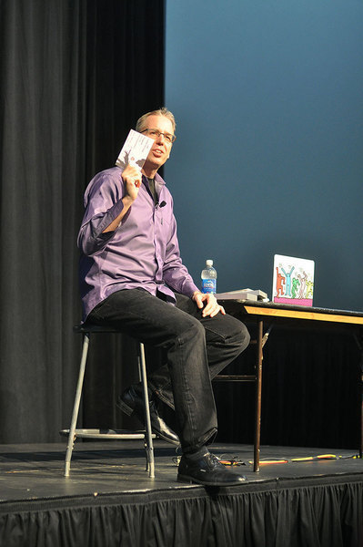 "Frank Warren, creator of PostSecret and the ""most trusted stranger in America,"" shared his secrets last week at Carnegie Mellon. (credit: Maricel Paz/Production Manager)"