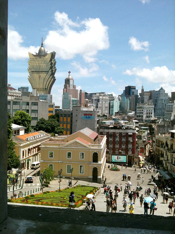 Macau is the ultimate gambling destination in the East, featuring the towering Grand Lisboa casino. (credit: Shweta Suresh | Editor-in-Chief)