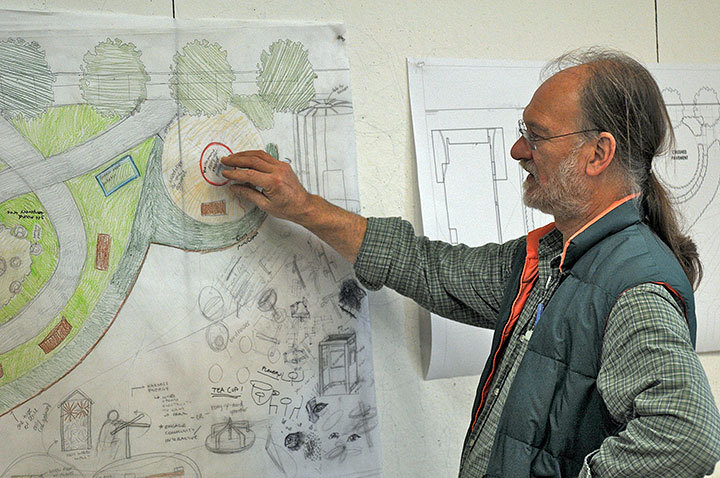 Bob Bingham, assistant head and professor of art, shares his plans. (credit: File Photo)