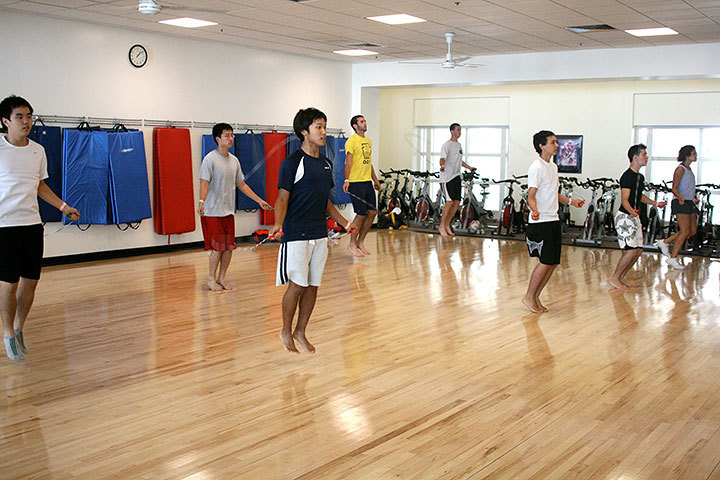 In addition to spending time on your own in the exercise rooms, the university also offers various exercise classes covering all interests and skill levels. Best of all, they're free. (credit: Celia Ludwinski | Photo Editor)