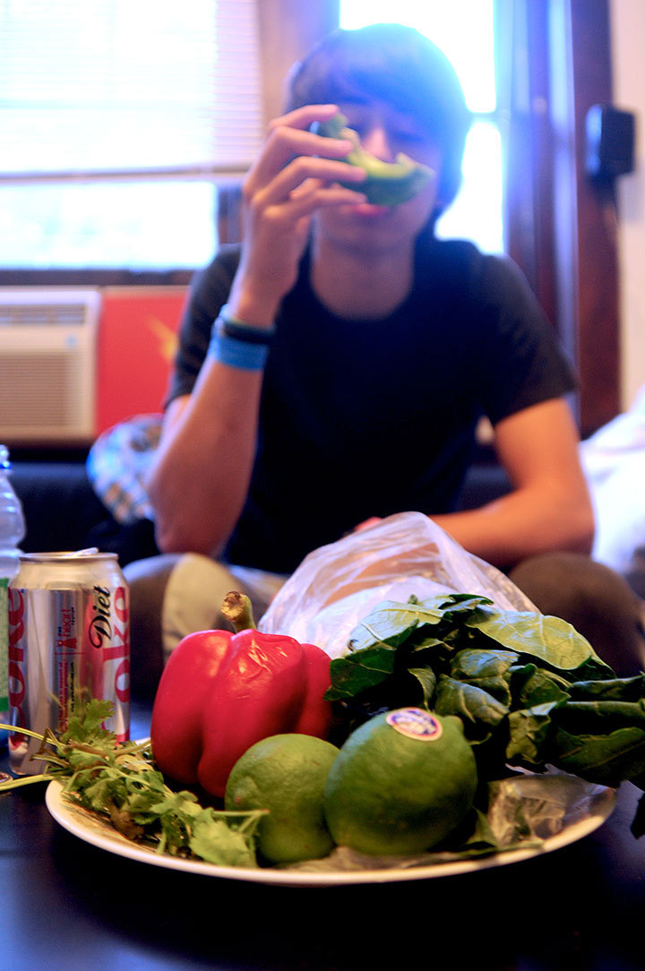 Foods without trans fat include fruits, vegetables, and granola. (credit: Tommy Hofman/Assistant Photo Editor)