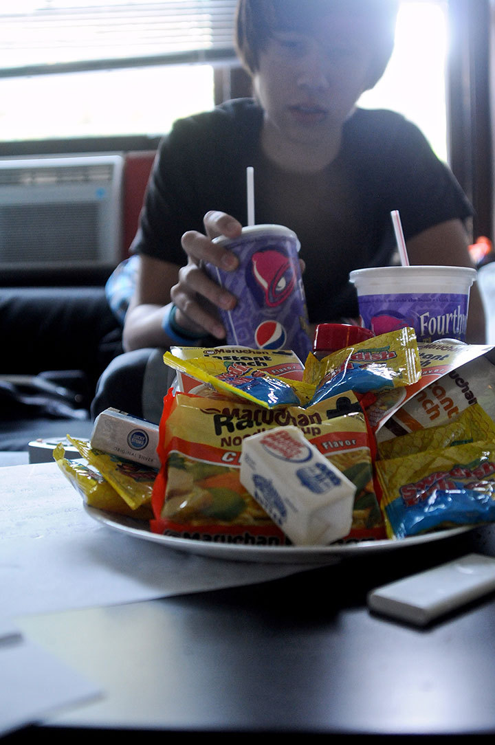 Foods made with trans fat include instant noodles, fast food, packaged foods, doughnuts, and cakes. These should be eaten in moderation. (credit: Tommy Hofman/Assistant Photo Editor)