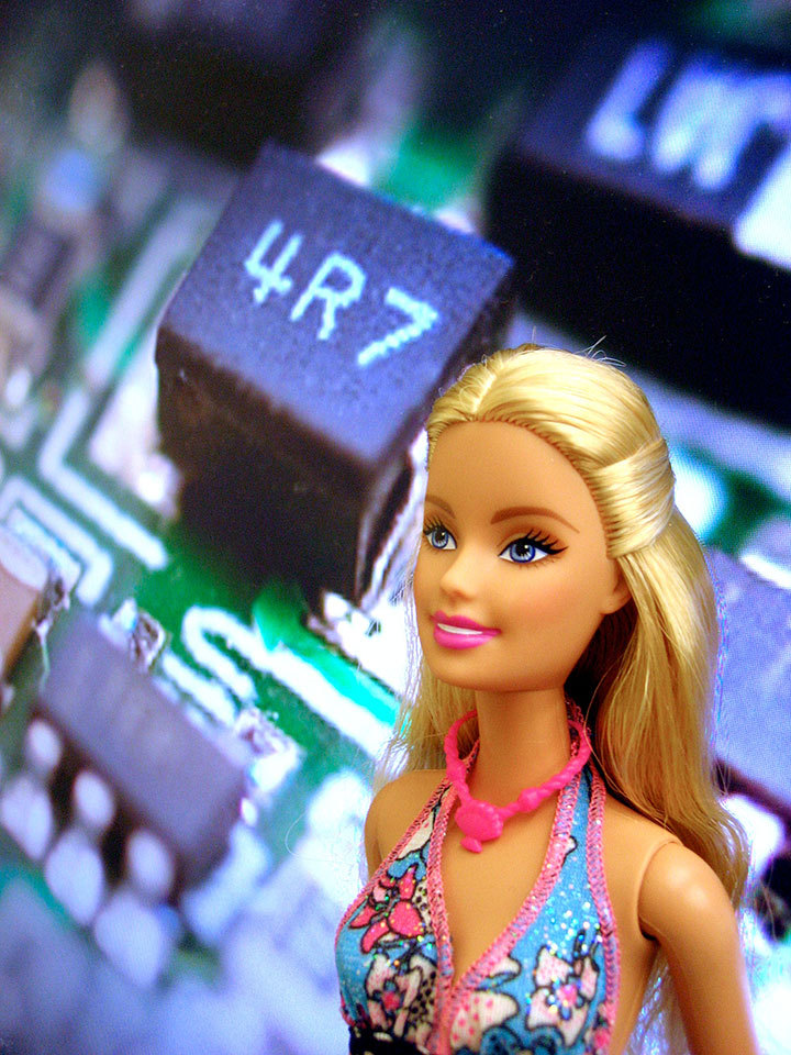 After a 600,000 vote with options including an anchorwoman, architect, and an environmentalist, Barbie will enter the technical fields as Computer Engineer Barbie. (credit: Michelle Liu/Photo Staff)