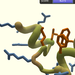 This is a screenshot from the video game Foldit, which lets users manipulate protein structures to find the most stable configuration of the protein for a high score. Having people find the best structure can be better than using computers because humans optimize solutions by focusing on the most problematic areas.