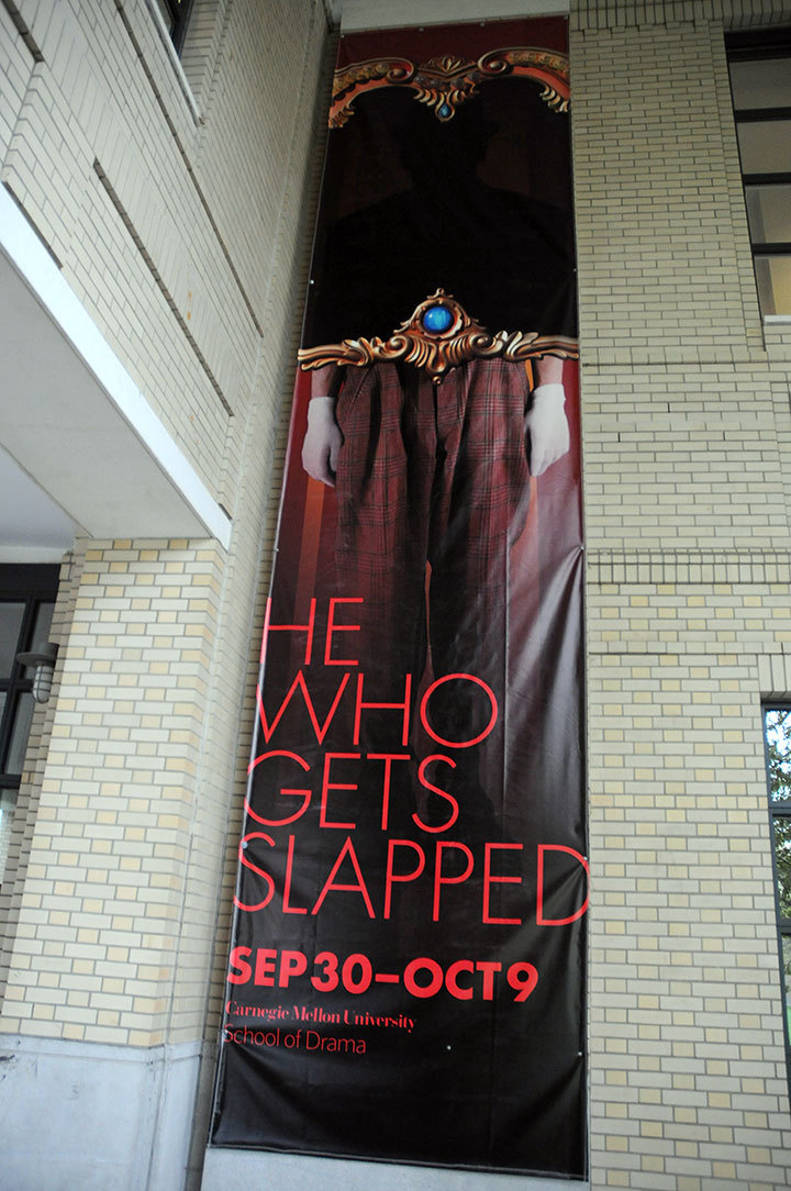 Students will perform *He Who Gets Slapped* in the Philip Chosky Theatre through Oct. 9. (credit: Celia Ludwinski | Photo Editor)