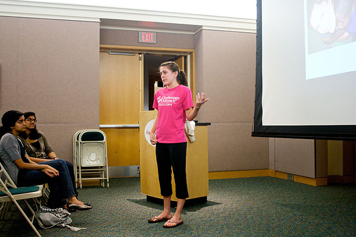 Many groups were on hand to present information about study abroad opportunities in which students can gain cultural experience while pursuing their education in a unique environment. There was also an information session for hesitant parents during Family Weekend. (credit: Celia Ludwinski | Photo Editor)