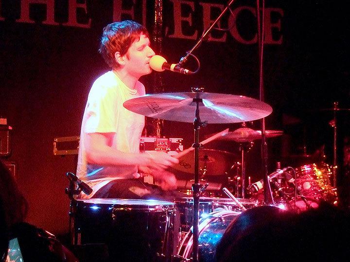 Dean Allen Spunt, the drummer of No Age, performs at The Fleece in Bristol, England.  (credit: Courtesy of prusakolep on flickr)